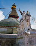 Buddhist Shrine Boudhanath Stupa. Nepal Stock Images
