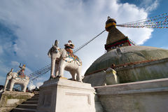 Buddhist Shrine Boudhanath Stupa. Nepal Royalty Free Stock Photos