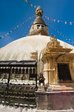 Buddhist Shrine Boudhanath Stupa. Nepal Stock Image