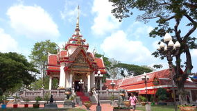 Buddhist shrine stock video footage