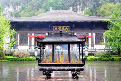 Buddhist shrine in Guilin, China Royalty Free Stock Images