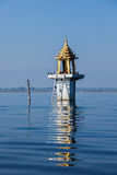 Buddhist shrine lake Stock Images