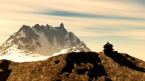 Buddhist shrine in mountains Royalty Free Stock Photography