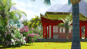 Buddhist shrine in the mountains Royalty Free Stock Photos