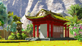 Buddhist shrine in the mountains Royalty Free Stock Images