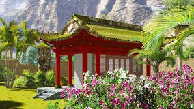 Buddhist shrine in the mountains Royalty Free Stock Photography