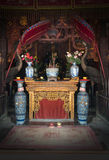 Buddhist Shrine, Religion, Worship God. Buddhist shrine in an oriental temple. Asian people worship god in their own way Royalty Free Stock Photos
