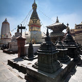 Buddhist Shrine Swayambhunath Stupa. Nepal Royalty Free Stock Photo