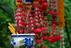 Buddhist Shrine in Thailand Stock Photo