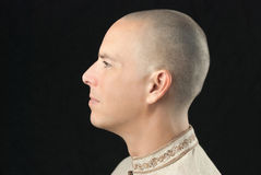 Buddhist, Side View Royalty Free Stock Photos