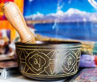 Buddhist singing bowl vase Stock Photo