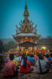 Buddhist Society in Kedah, Northern Malaysia. Early in the morning, people begin to arrive at the temple wearing their best clothes. They carry food prepared at Stock Photos