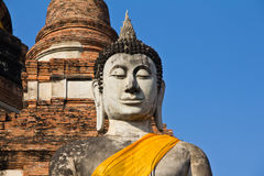 Buddhist state. Limestone Buddhist state in  Thailand Royalty Free Stock Image