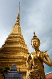 Buddhist Statue. At the Temple of the Emerald Buddha, Bangkok, Thailand Royalty Free Stock Photography