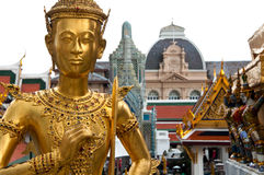 Buddhist Statue. At the Temple of the Emerald Buddha, Bangkok, Thailand Stock Photo