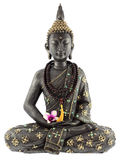 Buddhist statue. Traditional buddhist statue isolated on white background Royalty Free Stock Photography
