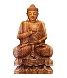 Buddhist statue. Of Buddha isolated on white Royalty Free Stock Photo
