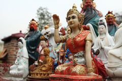 Buddhist statue. In Hong Kong royalty free stock photos