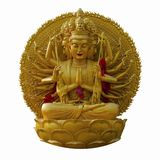 Buddhist statue. Isolated on white Stock Photos