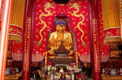 Buddhist statue - Altar in the Chinese Temple. Kunming, Yunnan, China Stock Photo