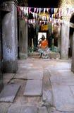 Buddhist statue- Angkor Wat ruins, Cambodia. Stock Photos