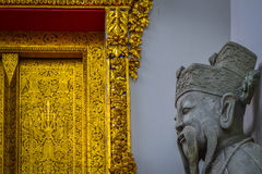 Buddhist Statue in Bangkok. Buddhist statue at temple in bangkok Royalty Free Stock Images
