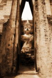 Buddhist statue. Big buddhist statue in old church Stock Photography
