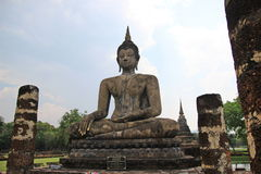 Buddhist statue. Big buddhist statue on sky background Stock Photo