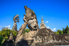 Buddhist statue. With blue sky Royalty Free Stock Images