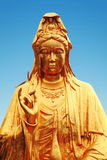 Buddhist statue of Guanyin Bodhisattva, Avalokitesvara Bodhisattva, Goddess of Mercy in buddhism temple Royalty Free Stock Images