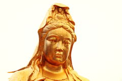 Buddhist statue of Guanyin Bodhisattva, Avalokitesvara Bodhisattva, Goddess of Mercy Stock Photos