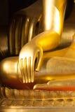 Buddhist statue hand Stock Images