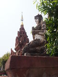 Buddhist statue. Buddhist image behind temple in Thailand Royalty Free Stock Photography