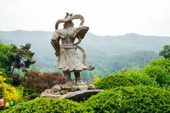 Buddhist statue in Korea. Buddhist statue in Wawoo Temple, Korea Stock Photography