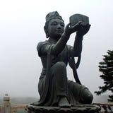 Buddhist Statue on Lantau island (Hong Kong). Royalty Free Stock Images
