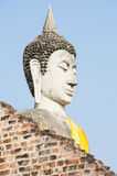Buddhist Statue. Large Buddhist Statue in Ayuthaya Thailand Royalty Free Stock Images