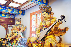 Buddhist statue in Po Lin Monastery in Hong Kong Stock Photo