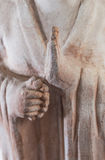 Buddhist statue praying. Statue of Buddhist figure praying, enlightenment concept Stock Images