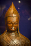 Buddhist statue from wood Royalty Free Stock Photos