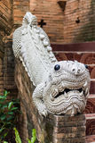 Buddhist Statues of animals in temple thailand (Mom) Stock Images
