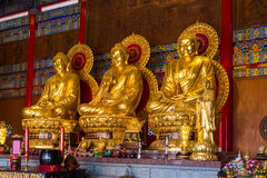 Buddhist Statues in Chinese Temple Thailand Royalty Free Stock Photo
