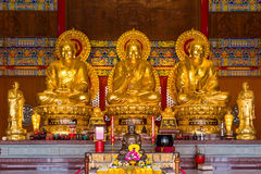 Buddhist Statues in Chinese Temple Thailand Royalty Free Stock Photography