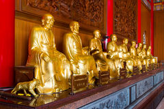Buddhist Statues in Chinese Temple Thailand Royalty Free Stock Images