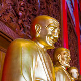 Buddhist Statues in Chinese Temple Thailand Stock Photos