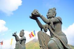 Buddhist statues at Po Lin Monastery, Lantau Island, Hong Kong, China stock image