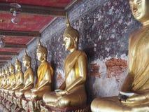 Buddhist statues. In wat pho Bangkok Stock Photo