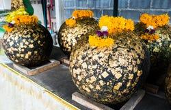 Buddhist stone ball Stock Photos