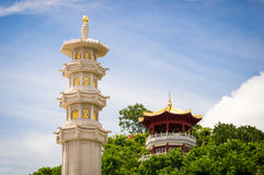 Buddhist Stone Pillar in Sanya Nanshan cultural tourism zone Royalty Free Stock Images