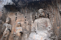 The Buddhist stone statues Stock Images