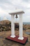 Buddhist stupa and bell. Buddhist stupa in Kirinda, Sri Lanka Royalty Free Stock Photos